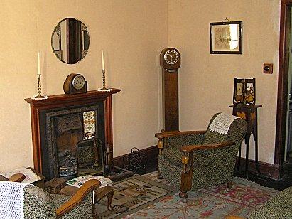 Scottish industrial heritage for Modern 1930s living room